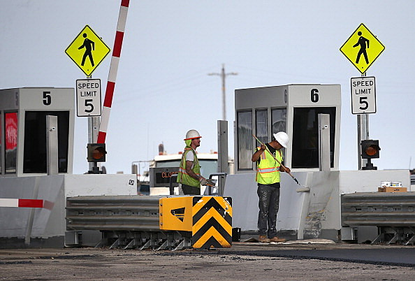 Construction Nears Completion On Bay Bridge Linking Oakland And San Francisco