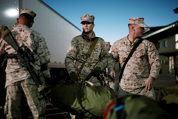 Marines Leave Camp Pendleton As Part Of Last Major Marine Deployment To Afghanistan