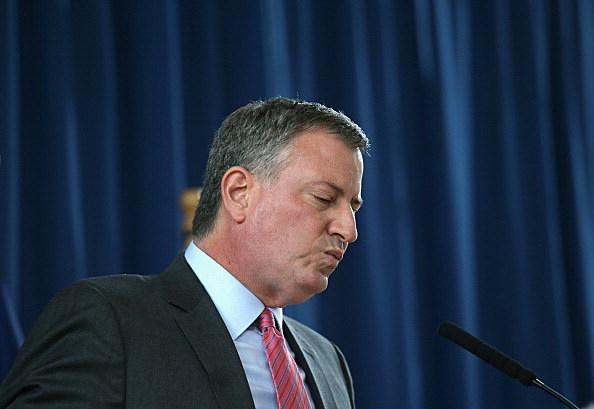 NYC Mayor De Blasio Hosts News Conference At Pre-K School