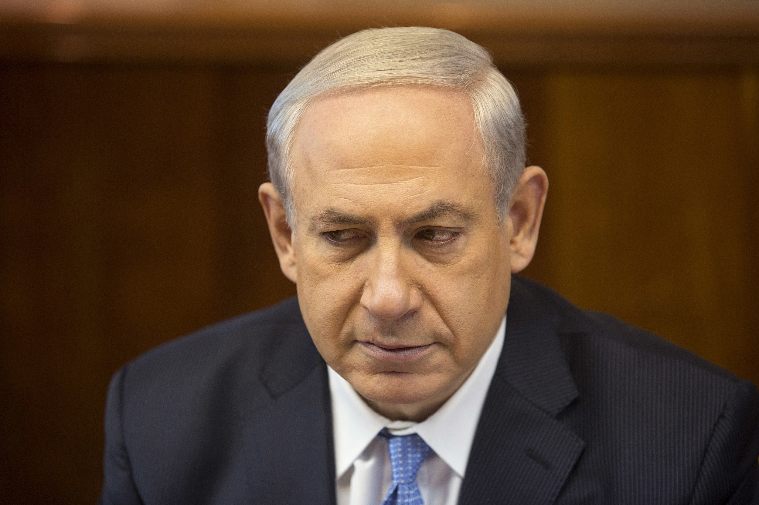 Benjamin Netanyahu At Cabinet Meeting