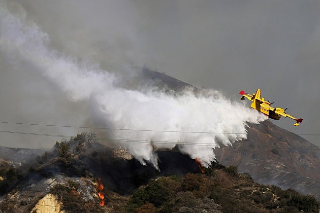 Brush Fire Threatens Residential Neighborhood Near Glendora