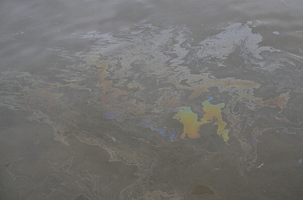 Clean Up Underway After Oil Spill In Manilla Bay