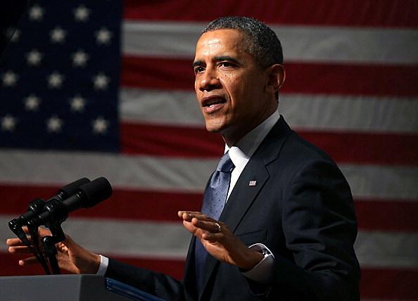 President Obama Speaks At Bladensburg High School In Maryland