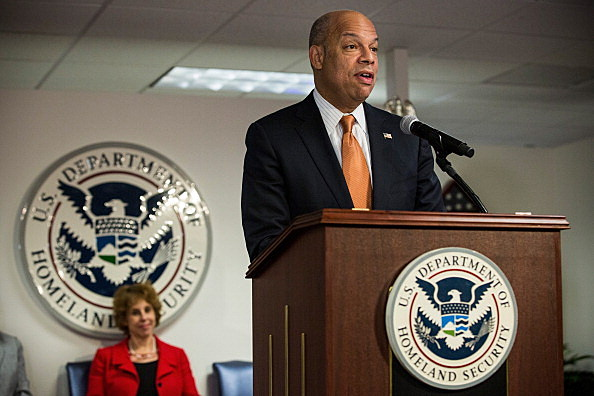 Jeh Johnson Administers Oath Of Allegiance At Naturalization Ceremony In NYC