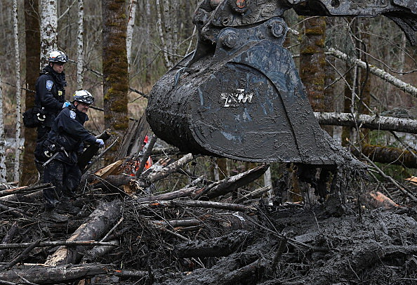 Search Efforts Continue For Mudslide Victims