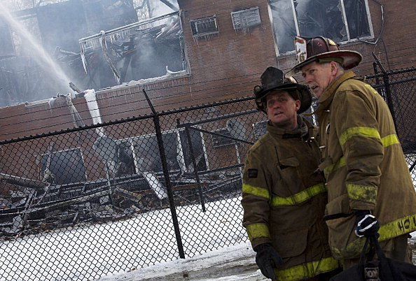 Four Alarm Fire Rips Through Detroit Apartment Building