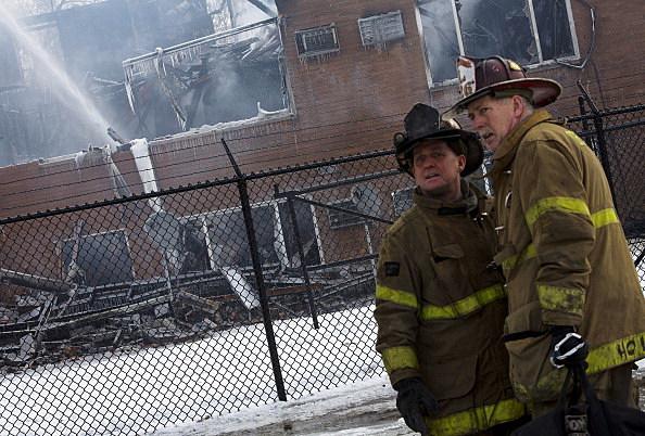 Four Alarm Fire Rips Through Detroit Apartment Building