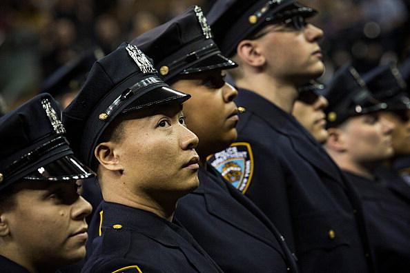 Mayor De Blasio And NYPD Chief Bratton Preside Over Department's Graduation Ceremony